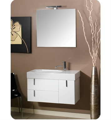 Nameeks NE1-GB Iotti Modern Bathroom Vanity Set from Enjoy Collection With Finish: Glossy Black