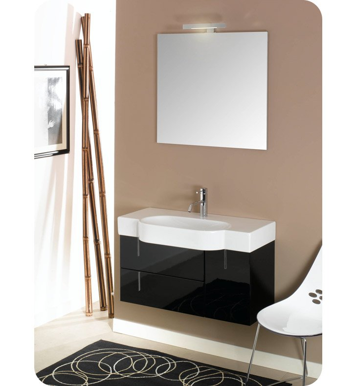 Nameeks NE2-GB Iotti Modern Bathroom Vanity Set from Enjoy Collection With Finish: Glossy Black