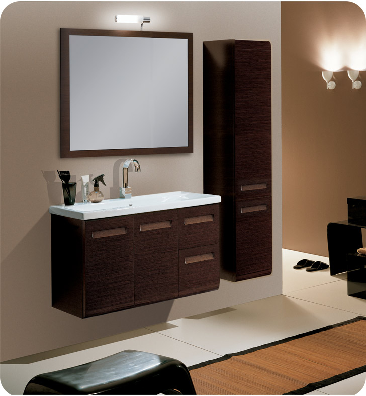 Nameeks NG1-W Iotti Modern Bathroom Vanity Set from Integral Collection With Finish: Wenge