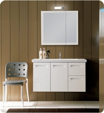 Nameeks NG3-GW Iotti Modern Bathroom Vanity Set from Integral Collection With Finish: Glossy White