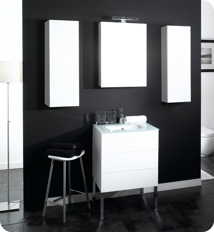 Nameeks NT3-W Iotti Modern Bathroom Vanity Set from Time Collection With Finish: Wenge