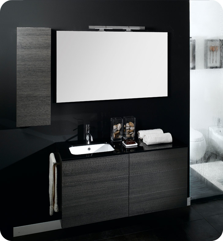 Nameeks NT6-GW Iotti Modern Bathroom Vanity Set from Time Collection With Finish: Glossy White