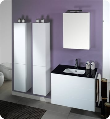 Nameeks NT7-W Iotti Modern Bathroom Vanity Set from Time Collection With Finish: Wenge