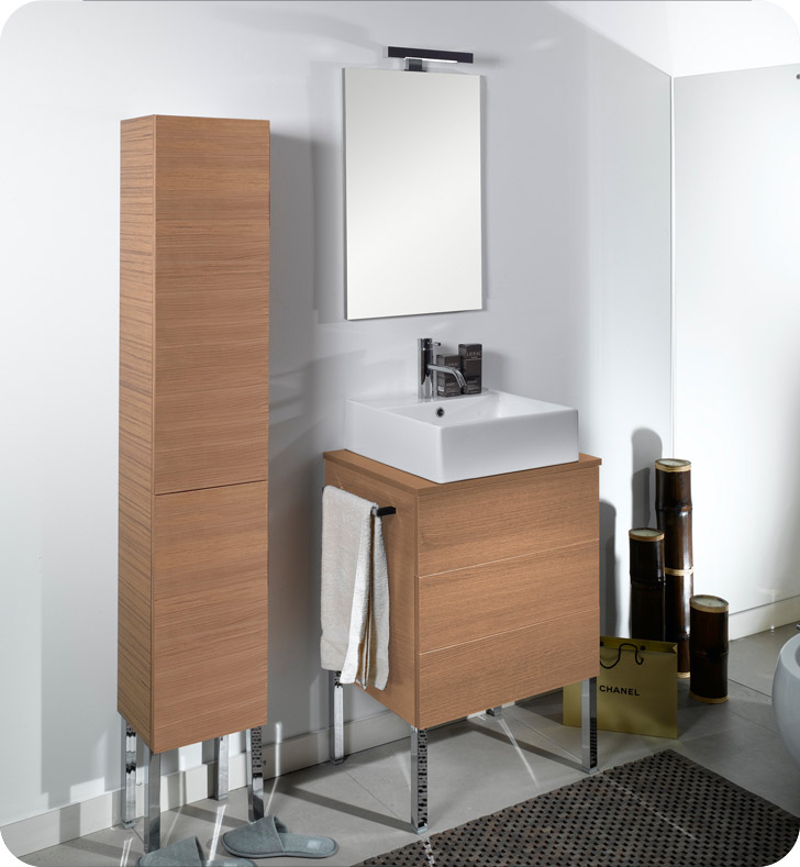 Nameeks NT8-GW Iotti Modern Bathroom Vanity Set from Time Collection With Finish: Glossy White