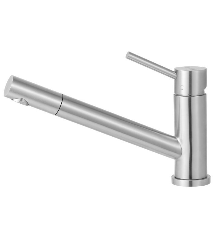 ALFI Brand AB2025-BSS Pull Out Single Hole Kitchen Faucet in Brushed Stainless Steel