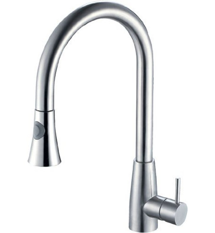 ALFI Brand AB2034-PSS Pull Down Single Hole Kitchen Faucet in Polished Stainless Steel