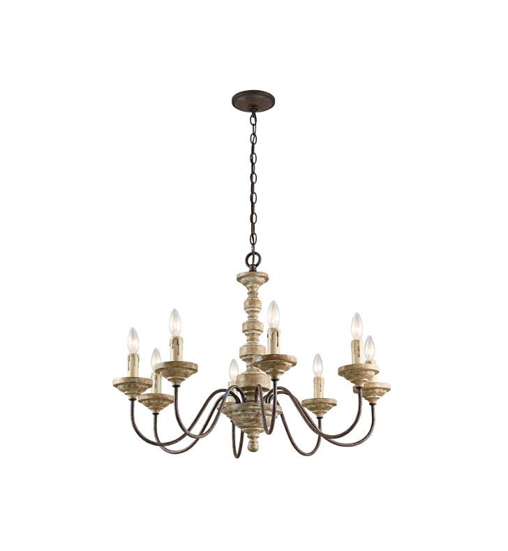 Kichler 43472VWW Briellis 8 Light Chandelier in Vintage Weathered