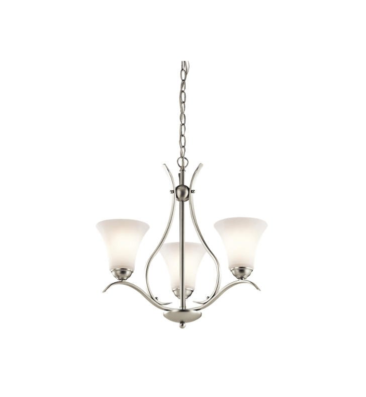 Kichler 43503NI Keiran 3 Light Chandelier With Finish: Brushed Nickel