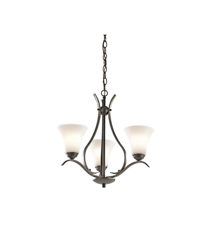 Kichler 43503OZ Keiran 3 Light Chandelier in Olde Bronze