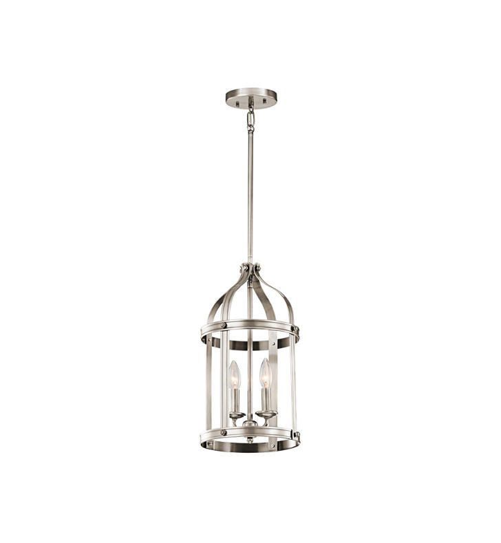 Kichler 43105CLP Steeplechase 2 Light Pendant in Classic Pewter