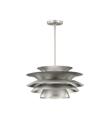 Kichler 43459NI Novara 1 Light Pendant in Brushed Nickel