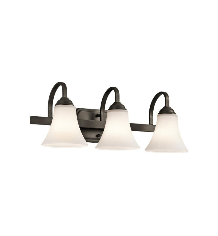 Kichler 45513OZ Keiran 3 Light Bathroom Fixture in Olde Bronze
