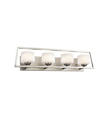 Kichler 45484NI Kalel 4 Light Bathroom Fixture in Brushed Nickel