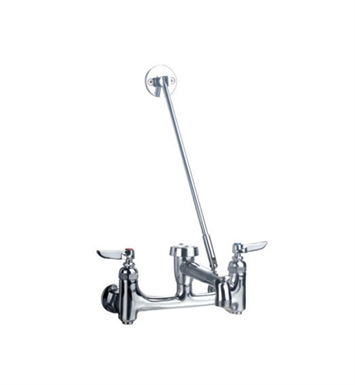 Whitehaus WHFSB980-C Heavy Duty Wall Mount Service Sink Faucet with Support Bracket and Lever Handles