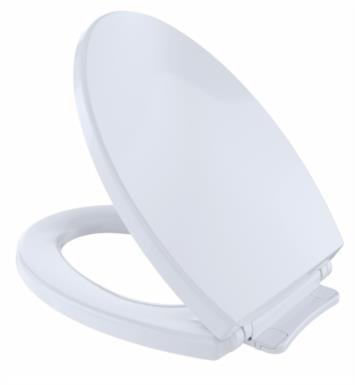 "TOTO SS114#01 SoftClose 14"" Elongated Closed Front Toilet Seat and Cover With Finish: Cotton White"