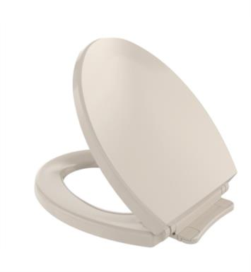 "TOTO SS113#12 SoftClose 14"" Round Closed Front Toilet Seat and cover With Finish: Sedona Beige"