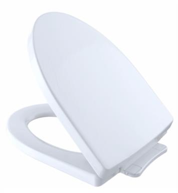 "TOTO SS214#11 Soiree 14 1/4"" SoftClose Elongated Toilet Seat With Finish: Colonial White"