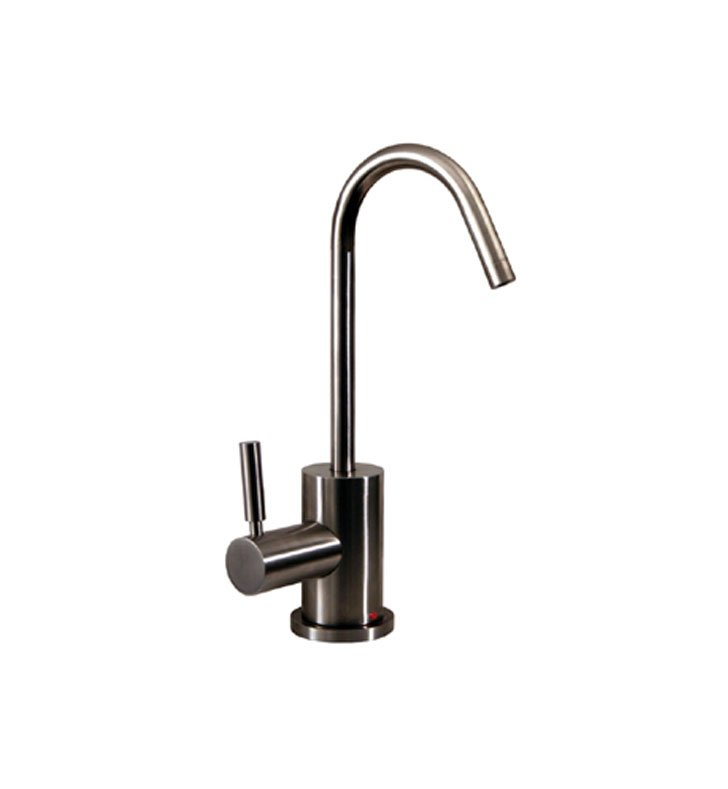 Whitehaus WHFH-H1400 Forever Hot instant hot water dispenser with gooseneck spout and a self closing hot water handle
