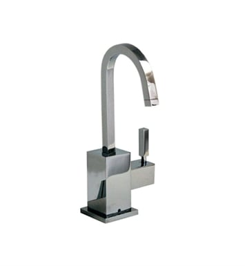 Whitehaus WHSQ-C003-C Q-Haus contemporary square design point of use drinking water faucet with gooseneck spout With Finish: Polished Chrome