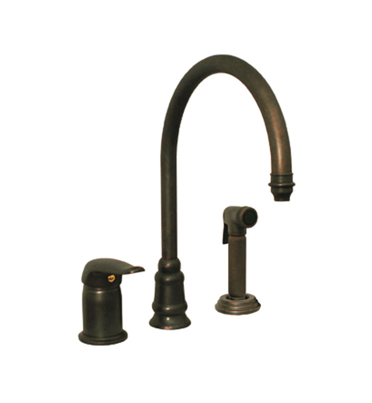 Whitehaus WH18664 Evolution three hole faucet with independent ...