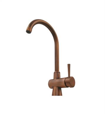 Whitehaus WH16606-CO Evolution arcade single hole/single lever mixer with a gooseneck swivel spout With Finish: Polished Copper
