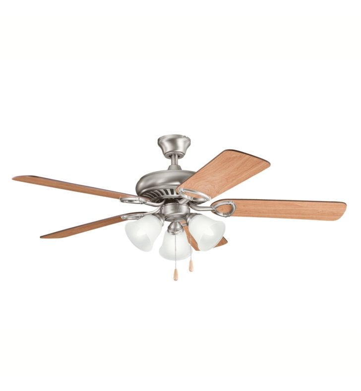"Kichler 339400AP Sutter Place Premier 50"" Indoor Ceiling Fan with 5 Blades with Pull Chain and Downrod"