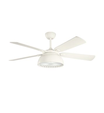 "Kichler 300142SNW Vance 54"" Indoor Ceiling Fan with 5 Blades with Cool-Touch Remote and Downrod"