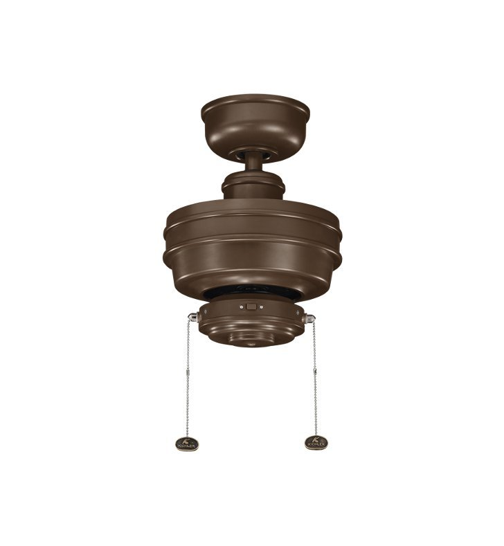 "Kichler 320510CMO Crystal Bay 52"" Outdoor Ceiling Fan and Downrod"
