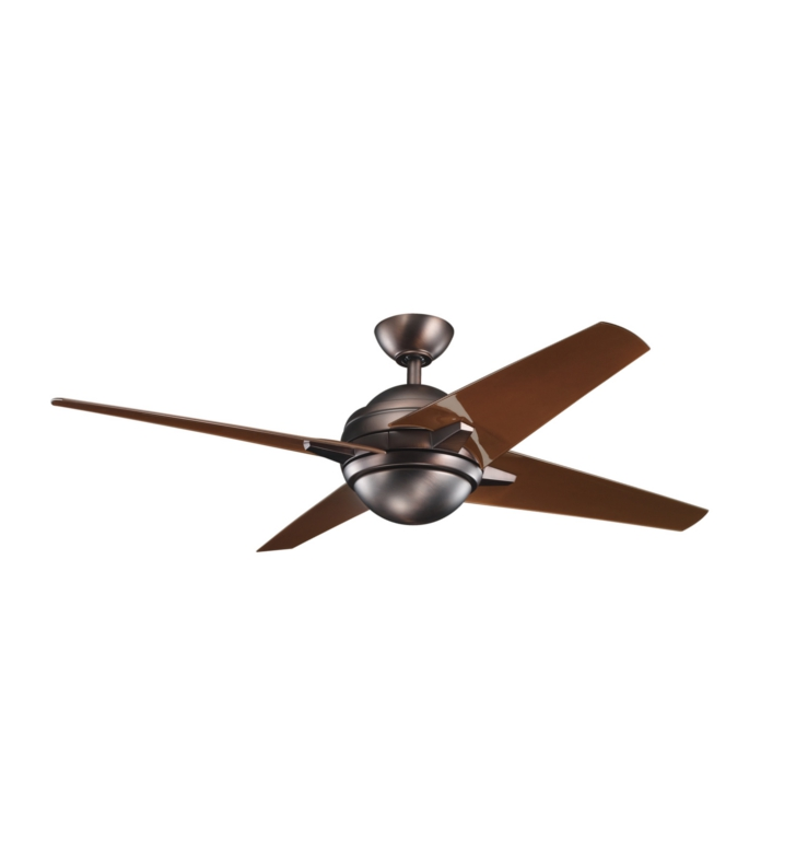 Kichler 300133OBB Indoor Ceiling Fan with 4 Blades with Cool-Touch Remote and Downrod