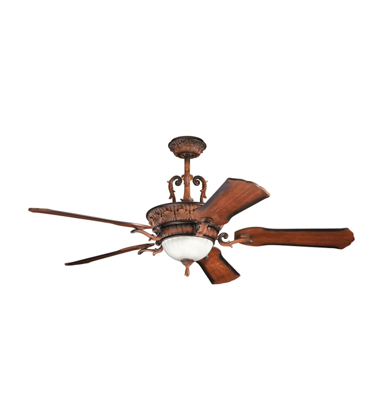 "Kichler 300008MDW Kimberley 56"" Indoor Ceiling Fan with 5 Blades, Cool-Touch Remote and Downrod"
