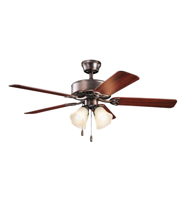 "Kichler 339240OBBU Renew Premier 50"" Indoor Ceiling Fan with 5 Blades and Downrod"