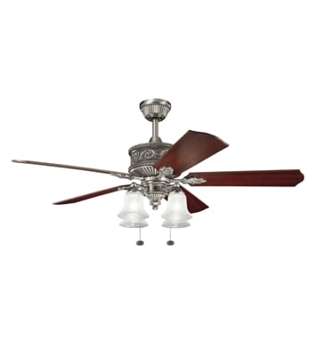 "Kichler 300161AP Corinth 52"" Indoor Ceiling Fan with 5 Blades and Downrod"