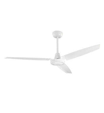 "Kichler 337015WH Industrial 56"" Indoor Ceiling Fan with 3 Blades and Downrod"