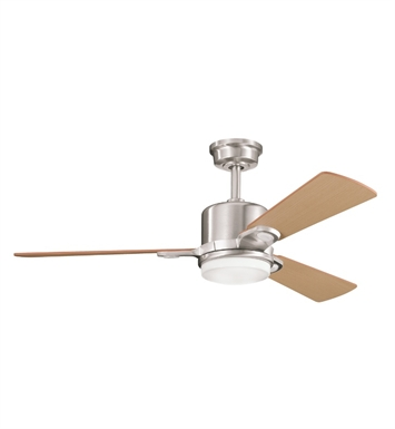 "Kichler 300017BSS Celino 48"" Indoor Ceiling Fan with 3 Blades, Cool-Touch Remote and Downrod"