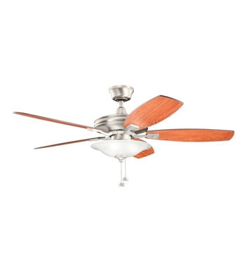 "Kichler 300179NI Rokr 52"" Indoor Ceiling Fan with 5 Blades and Downrod"