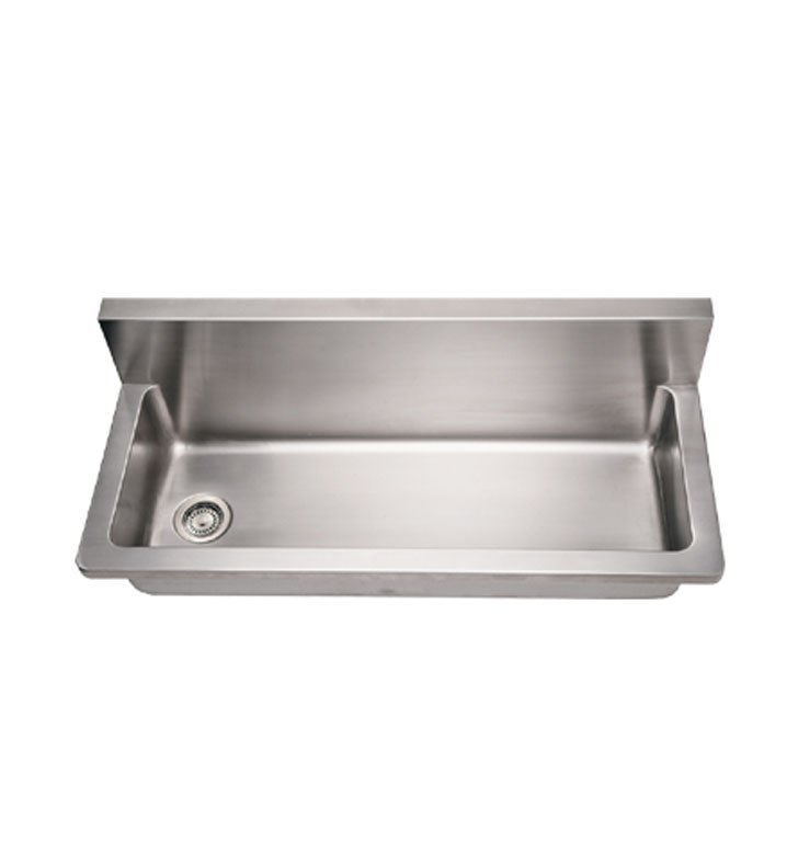 Whitehaus WHNCMB4413 Noah's Collection Brushed Stainless Steel Commercial Utility Sink