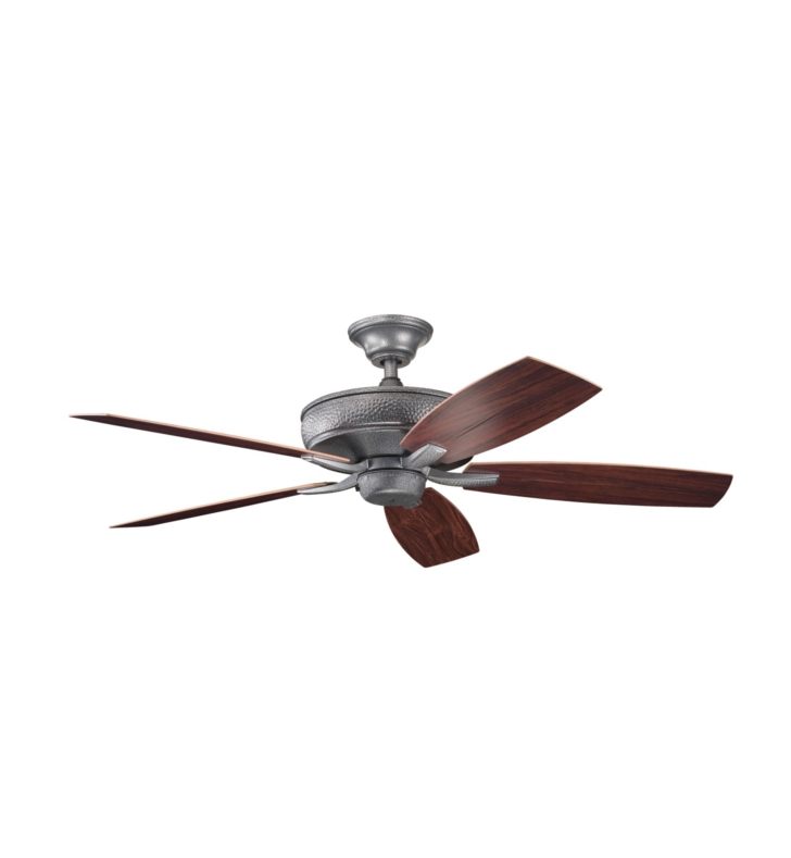 "Kichler 310103WSP Monarch II Patio 54"" Outdoor Ceiling Fan with 5 Blades, Cool-Touch Remote and Downrod"