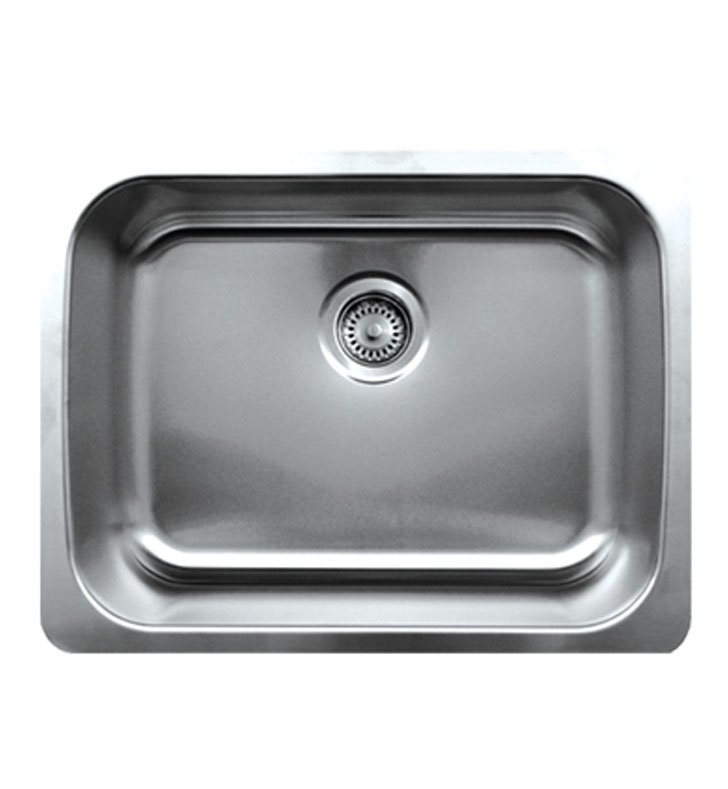 Whitehaus WHNU2318 Noah's Collection Brushed Stainless Steel Single Bowl Undermount Sink