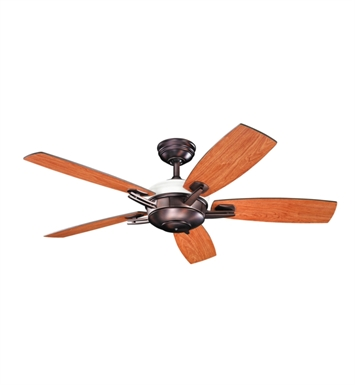 "Kichler 300262OBB Brinbourne 54"" Indoor Ceiling Fan with 5 Blades, Cool-Touch Remote and Downrod"