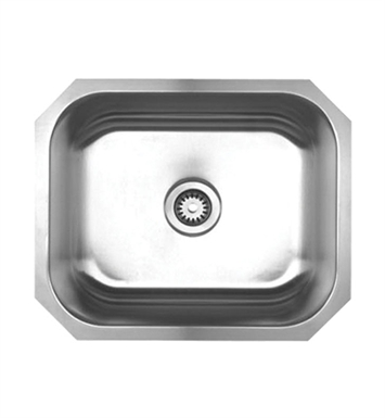 Whitehaus WHNU2016 Noah's Collection Brushed Stainless Steel Single Bowl Undermount Sink