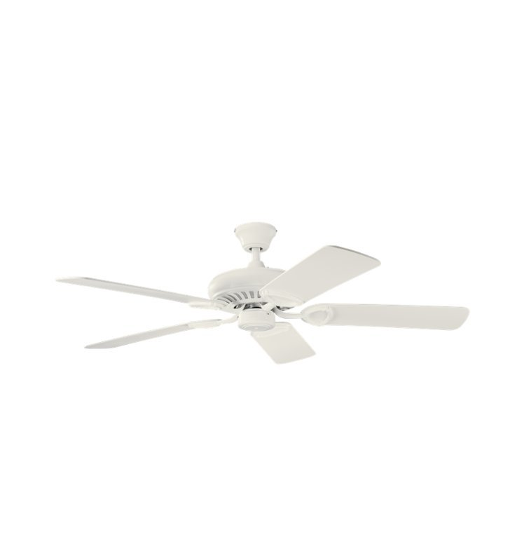 "Kichler 339011SNW Sutter Place 52"" Indoor Ceiling Fan with 5 Blades and Downrod"