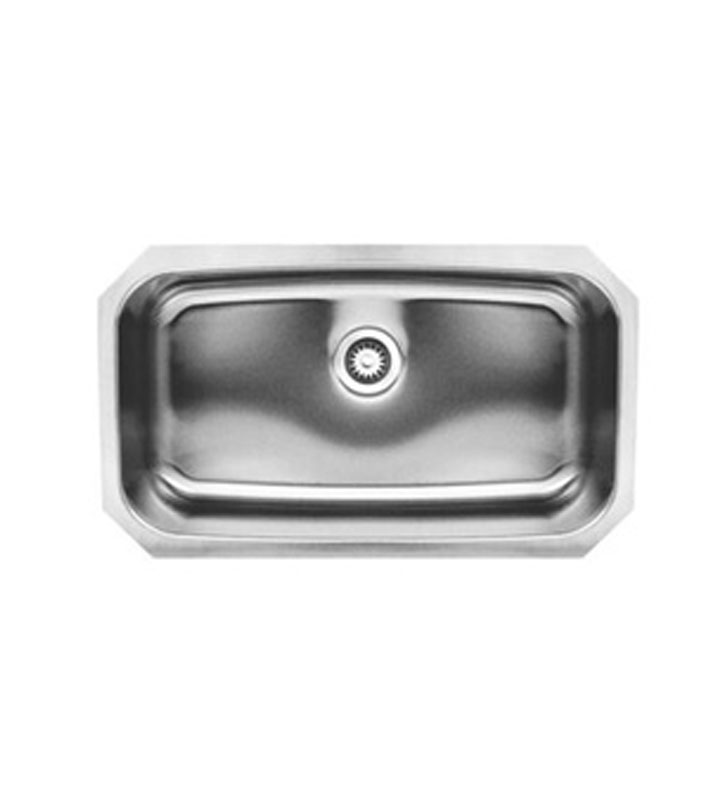 Whitehaus WHNU2917 Noah's Collection Brushed Stainless Steel Undermount Retangular Sink