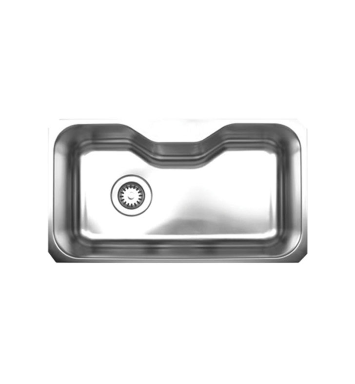 Whitehaus WHNUA3016 Noah's Collection Brushed Stainless Steel Single Bowl Undermount Sink