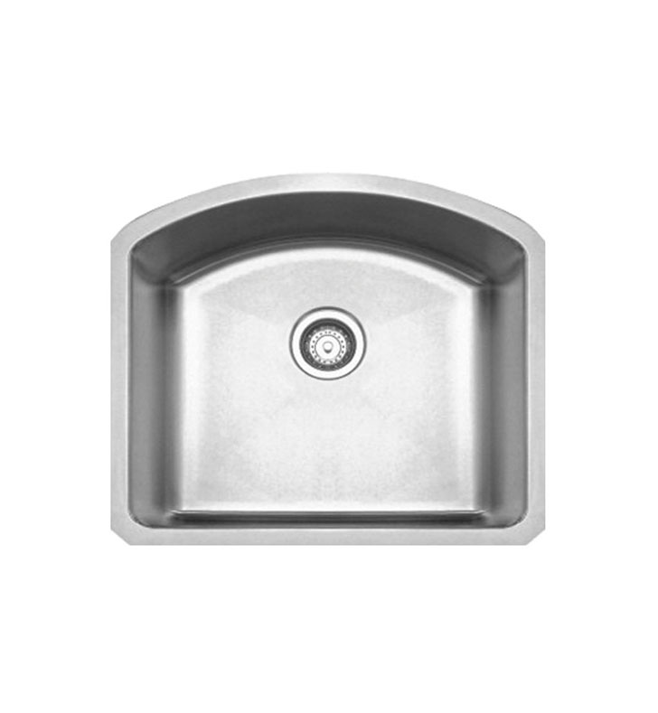 Whitehaus WHNC2321 Noah's Collection Brushed Stainless Steel Chefhaus Series Single Bowl Undermount Sink
