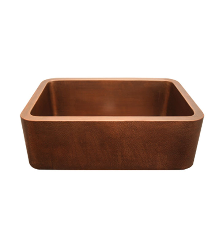 Whitehaus WH3020COFC Copperhaus Rectangular Undermount Sink with Smooth Front Apron
