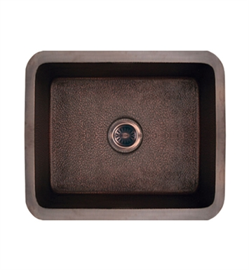 Whitehaus WH1921COUM Copperhaus Rectangular Undermount Sink with a Smooth