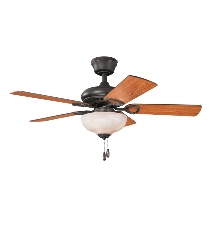 "Kichler 337014OZ Sutter Place Select 42"" Indoor Ceiling Fan with 5 Blades and Downrod"