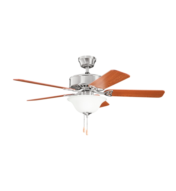 "Kichler 330103BSS Renew Select ES 50"" Indoor Ceiling Fan with 5 Blades and Downrod"