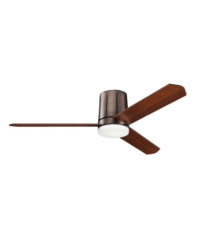 "Kichler 300151OBB Innes 52"" Indoor Ceiling Fan with 3 Blades, Cool-Touch Remote and Light Kit"