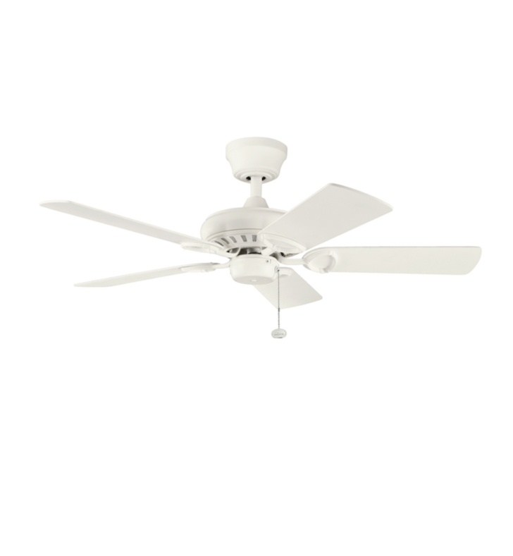 "Kichler 337013SNW Sutter Place 42"" Indoor Ceiling Fan with 5 Blades and Downrod"